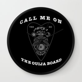 Call Me On The Ouija Board Wall Clock