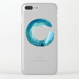 Serenity Enso No. 1 by Kathy Morton Stanion Clear iPhone Case