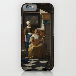 The Love Letter (ca 1669 -1670) by Johannes Vermeer iPhone Case