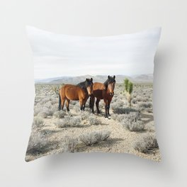 Desert Horse Pair Throw Pillow