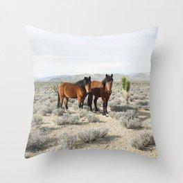 Desert Horse Pair Throw Pillow
