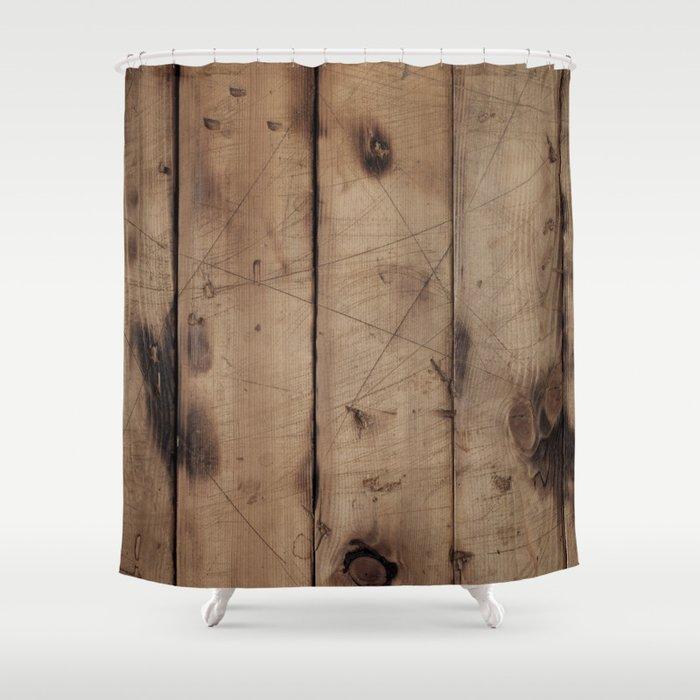 Burnt WoodGrain Shower Curtain
