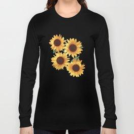 Happy Yellow Sunflowers Long Sleeve T-shirt