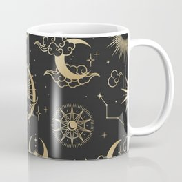 asian seamless pattern with clouds moon sun stars vector collection oriental chinese japanese korean Coffee Mug