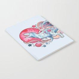 Star Rex | Cosmic Dinosaur Watercolor Notebook