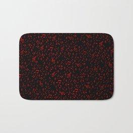 dark red music notes Bath Mat