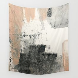 Peace and Quiet [1]: a pretty, minimal abstract piece in gray and peach by Alyssa Hamilton Art Wall Tapestry