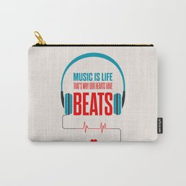 Lab No. 4 - Music Is Life.. That's Why Our Hearts Have Beats Motivational Quotes Poster Carry-All Pouch