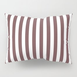 Pantone Red Pear & White Stripes, Wide Vertical Line Pattern Pillow Sham