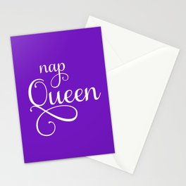 Nap Queen in Ultra Violet Stationery Cards