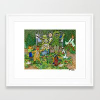 muppets Framed Art Prints featuring Gardening Muppets by Katherine Mary
