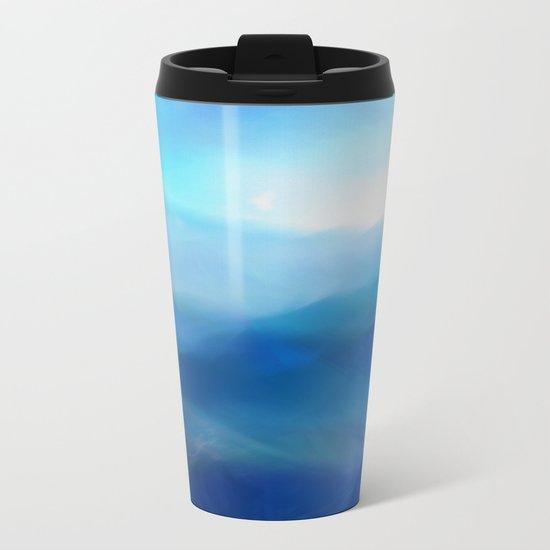 Abstract Landscape Metal Travel Mug