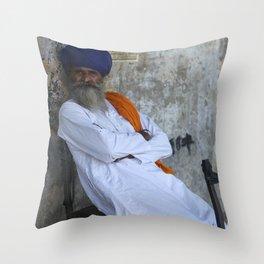 Sikh Man Throw Pillow