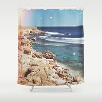 dolphins Shower Curtains featuring Dolphins by Mermaid's Coin Surf Art * by Hannah Kata