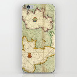 Vintage Map of The British Isles (1707) iPhone Skin
