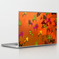 chicago bulls Laptop & iPad Skins featuring Dancing Bulls by Iconografico