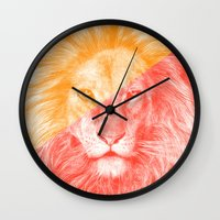 eric fan Wall Clocks featuring Wild 3 by Eric Fan & Garima Dhawan by Garima Dhawan