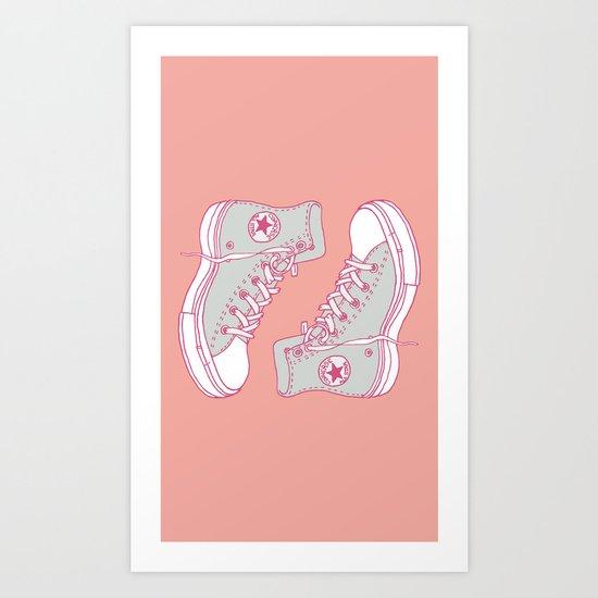 Canvas Shoes Art Print