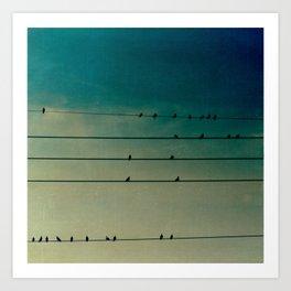 tightrope walkers Art Print