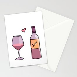 Wine Love Stationery Cards