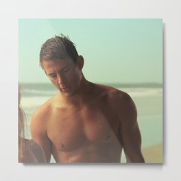 Channing tatum beach Metal Print