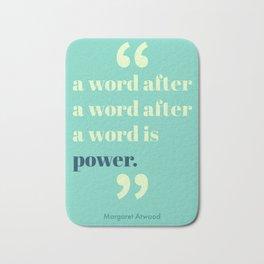 A Word Is Power Bath Mat
