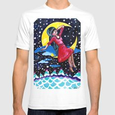 Selene's Moon Day Dreamzzz White Mens Fitted Tee MEDIUM