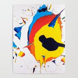 exploding egg-eye Poster