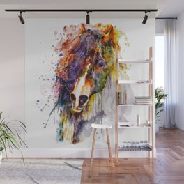 Abstract Horse Head Wall Mural