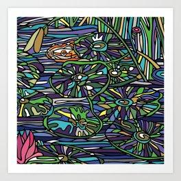 Water Lily Pillow 2 Art Print