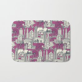 Seattle indigo crush Bath Mat