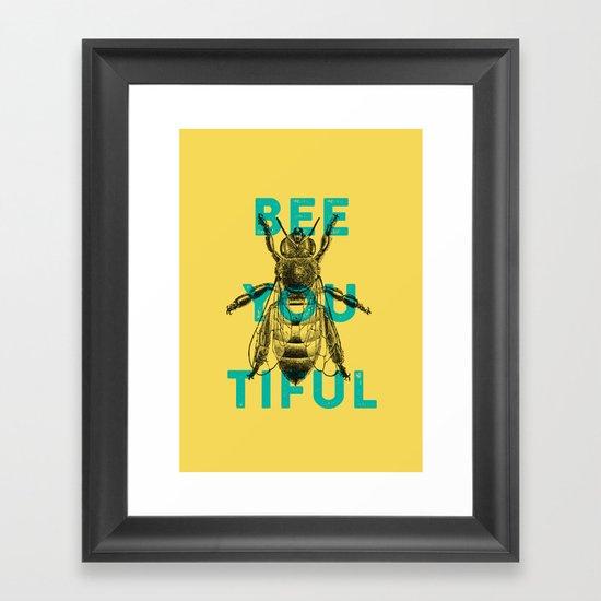 Bee-you-tiful Framed Art Print