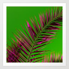 palm leaf abstract II Art Print