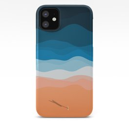 The Lone Surfer | Aerial iPhone Case