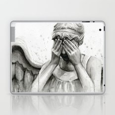 Weeping Angel Watercolor Painting Laptop & iPad Skin