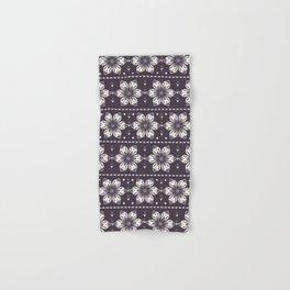 Hand drawn abstract Christmas flower pattern. Hand & Bath Towel
