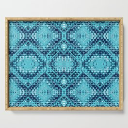 Folk Shibori Blues Serving Tray