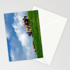 Amish farmer plowing Stationery Cards