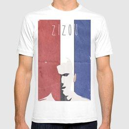 Zinedine Zidane Minimal Portrait, Zizou, illustration, football, calcio, soccer, ballon d'or T-shirt