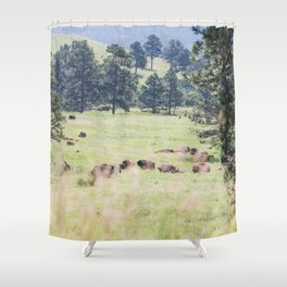 Where the Buffalo Roam - Nature Photography Shower Curtain