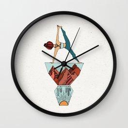 Yoga My Worries Away Wall Clock