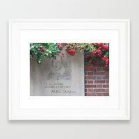 shakespeare Framed Art Prints featuring shakespeare by Danica Nicole