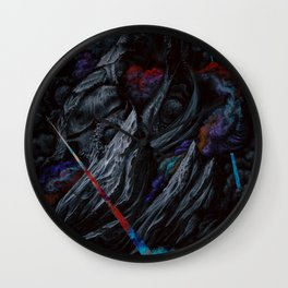 Its a majestic fall into a journey of darkness Wall Clock