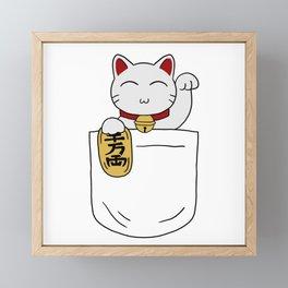 Maneki Neko Pocket Framed Mini Art Print