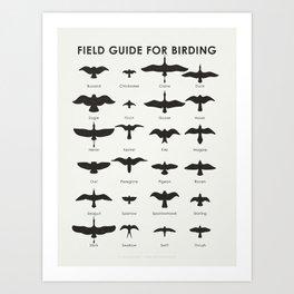 Field Guide for Birding Art Print