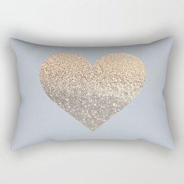 GATSBY GOLD HEART GREY II November Skies Rectangular Pillow