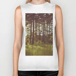 Summer Forest Sunlight - Nature Photography Biker Tank