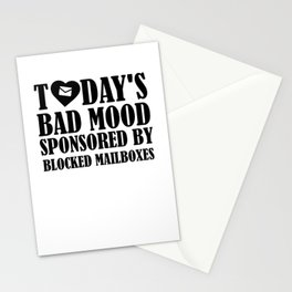 Today's Bad Mood Sponsored By Blocked Mailboxes Stationery Cards