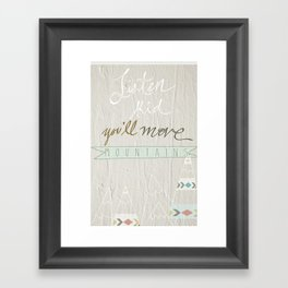 Listen kid! Framed Art Print