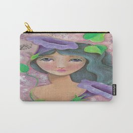 Girl with Morning Glories Carry-All Pouch
